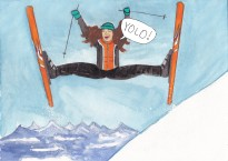 YOLO ski with type