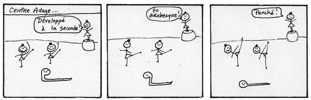 A Snake in Ballet Class - panel 2