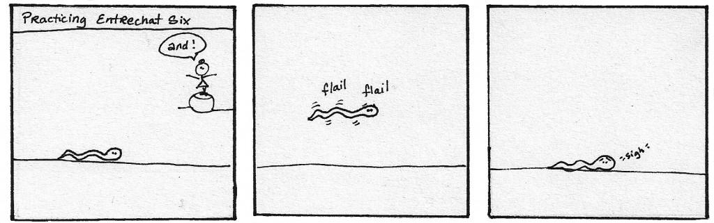 A Snake in Ballet Class - panel 5