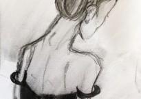 Ballerina drawing by Rachel Prendergast - HORIZ