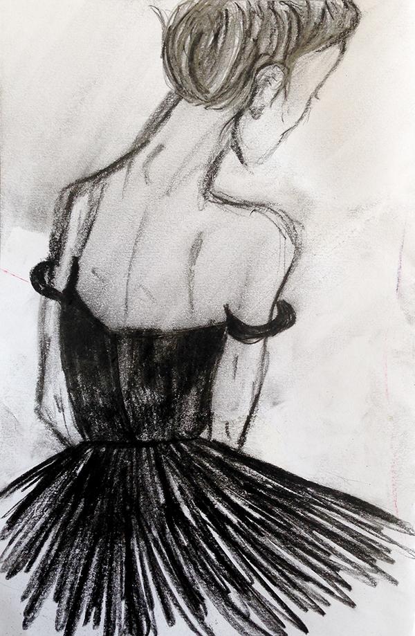 Ballerina drawing by Rachel Prendergast