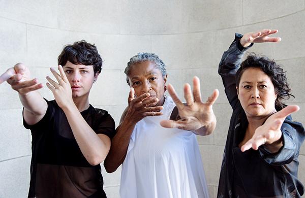 Courtney King, Richelle Donigan, and Sue Li Jue photo by Amal Bisharat