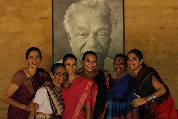 Chitrasena - Three Generations - (L to R) Anjalika, Vajira, Thaji, Umi, Upeka and Heshma