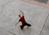Bradford Chin on sidewalk