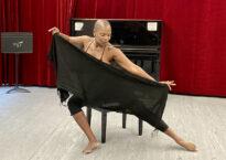 Zazel dancing with scarf