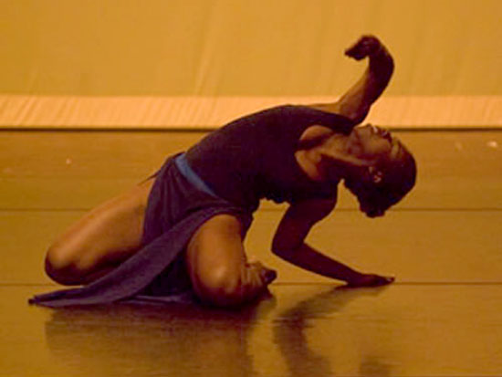 Crystal Faison-Mitchell dancing