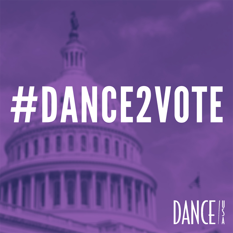 Dance/USA's get-out-the-vote campaign #Dance2Vote