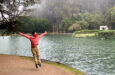 Dancer ArVejon Jones by pond