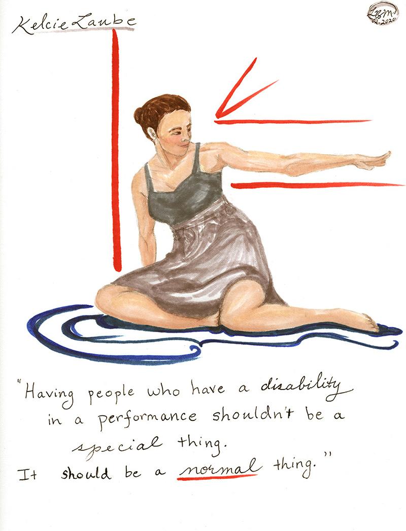 Illustration of Kelcie Laube