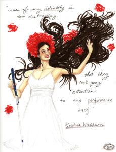 Illustration of Krishna Washburn