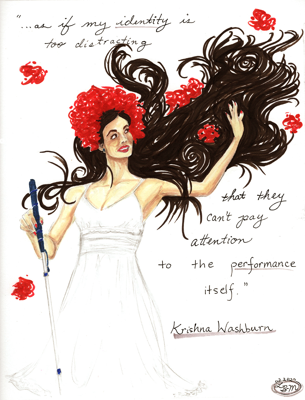 Illustration of Krishna Washburn