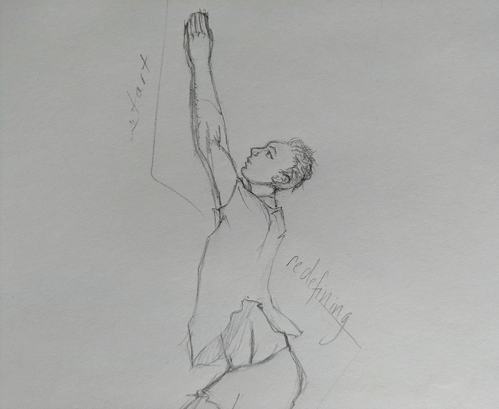 Rough sketch from the Discussing Disability in Dance Book Project
