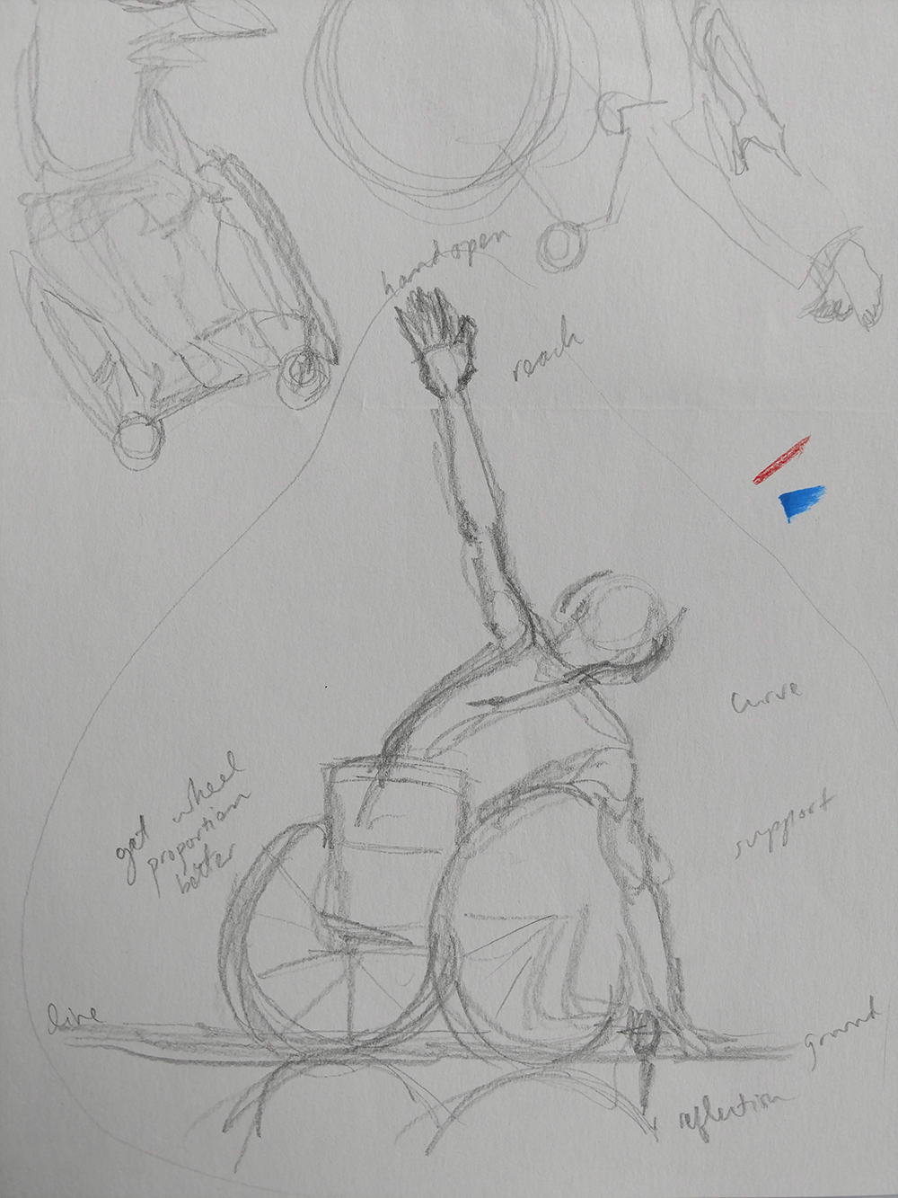 Rough sketch from Discussing Disability in Dance Book Project