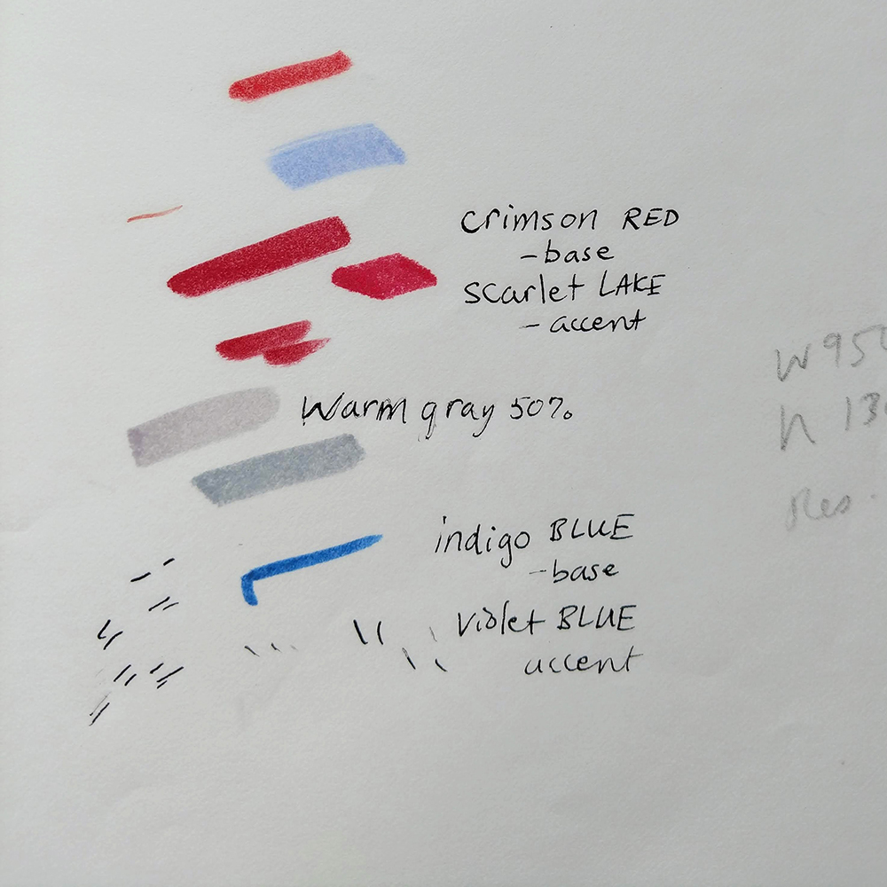 Color swatches from Discussing Disability in Dance Book Project
