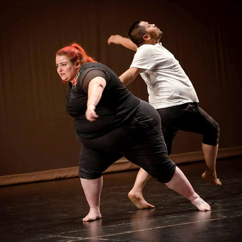 Two dancers from Shapes and Shades