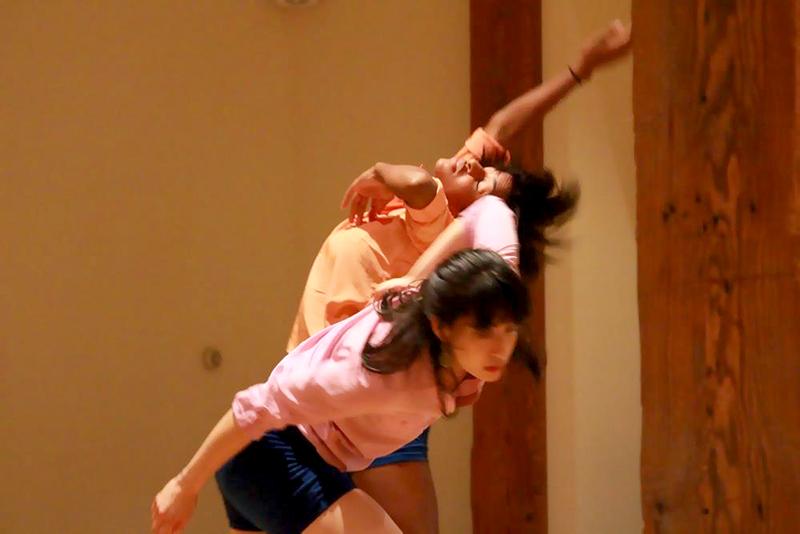 Jhia and Katie dancing