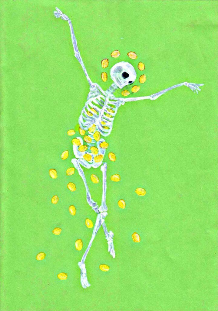 Skeleton with lemons
