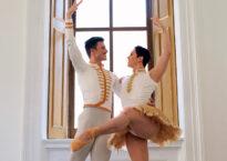 Two men in classical pas de deux pose