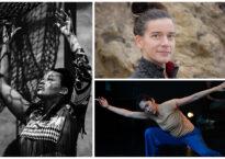 Headshots and dance photos of Bridge Project leaders