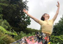 Julia Cost dancing in Maui